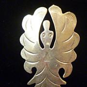 Vintage Sterling Silver Thunderbird Brooch Pin, Signed