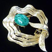 Vintage Clip Brooch Signed ART