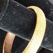 Vintage Gold Tone Metal Mesh Bangle Bracelet
