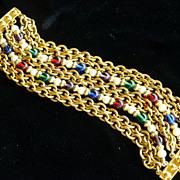 Vintage BEN AMUN 8 Strand Bracelet