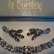 Lavish Dazzling Eisenberg Bracelet & Earrings Demi-Parure in Original Box