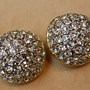 Dazzling Pave Rhinestone Earrings