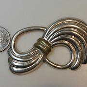 Big Sterling Silver Brooch Taxco