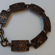 Vintage Copper Link Eagle Dancer Bracelet