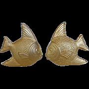 Vintage Les Bernard  Runway Earrings Angel Fish