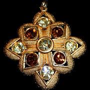 Vintage Sarah Coventry Coventry Maltese Cross Pendant