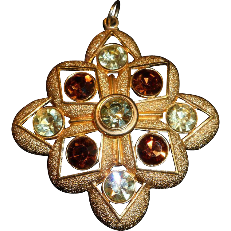Vintage sarah coventry coventry maltese cross pendant from for Sell gold jewelry seattle