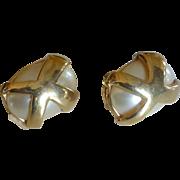 Kenneth Jay Lane KJL Faux Pearl Clip-On Earrings