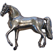 Sterling Silver Figural Horse Brooch Pin