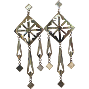 """Exceptional Navajo Sterling Silver Earrings with Original Papers 5"""""""