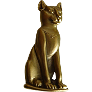 J985 Egyptian Revival Cat Goddess Bastet Brooch Worcester Art Museum