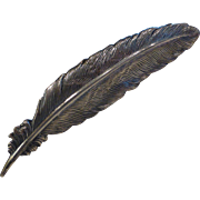 Vintage Sterling Silver Feather Pin Brooch by Jewel Art