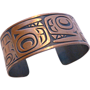 Bell Trading Post Solid Copper Cuff Bracelet NW Coastal Indian Design