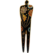 "Vintage Signed Laurel Burch ""Flowering Woman"" Brooch"