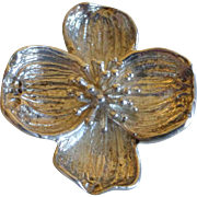 Vintage Tiffany & Co Sterling Silver Dogwood Flower Brooch