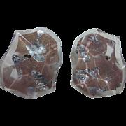 Vintage Huge Lucite Foil Confetti Earrings