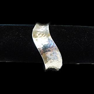 Vintage Sterling Silver Modernist Cuff Bracelet Mexico