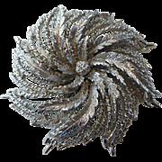 Vintage Monet Pinwheel Brooch Signed