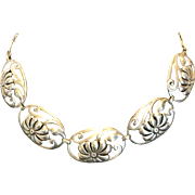 1940'S BAURING Sterling Silver Necklace