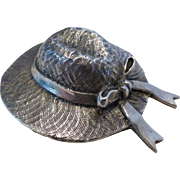 Vintage J.H. Breakell Sterling Silver Hat Brooch Pin