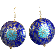 Vintage Cloisonné Earrings