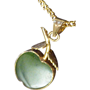 Jade Apple Pendant Necklace