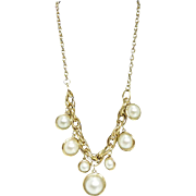 Marlyn Schiff Jumbo Faux Pearl Drop Necklace