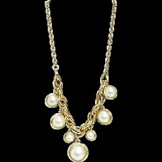 Marlyn Schiff Jumbo Faux Pearl Drop Necklace