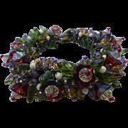 Cluster Bracelet Glass Novelty Beads