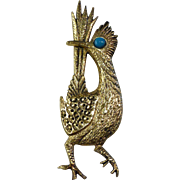 J. Ritter Signed Road Runner Brooch