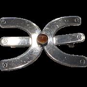 Joaquin Tinta Sterling Silver and Stone Brooch Pin Ecuador