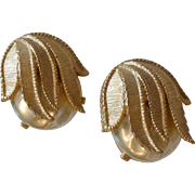 "Sarah Coventry Faux Baroque ""Hidden Pearl"" Earrings"