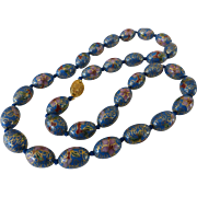 Vintage Chinese Cloisonné Bead Necklace