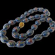 Vintage Chinese Cloisonné Bead Necklace