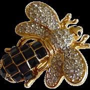 Crystal Rhinestone Bumblebee Bee Pin Brooch