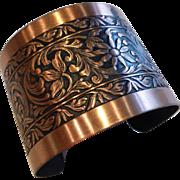 Wide Copper Cuff Bracelet Coppercraft Guild