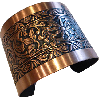Wide Copper Cuff Bracelet Coppercraft Guild