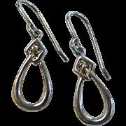 Sterling Silver Celtic Knot Drop Earrings by Kit Heath