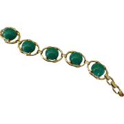 Stella & Dot Green Cabochon Bracelet