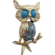 Emmons Jelly Belly Owl Pin Brooch