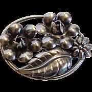 Vintage Lang Sterling Silver Flower Pin Brooch