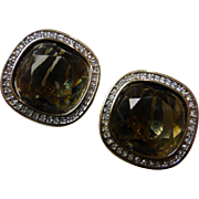 Vintage Swarovski Signed SAL DSCo Crystal Earrings