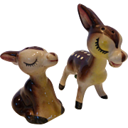 1950's Baby Deer Fawn Salt and Pepper Shakers