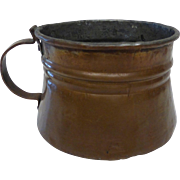 Vintage Hand Wrought Copper Tankard Mug Dovetailed