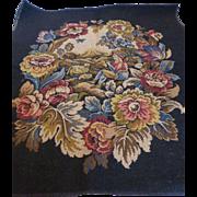 Vintage French Tapestry Landscape Shepherd Scene