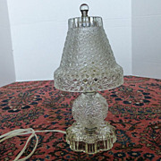 Vintage Button Daisy Glass Table Light Lamp - Red Tag Sale Item