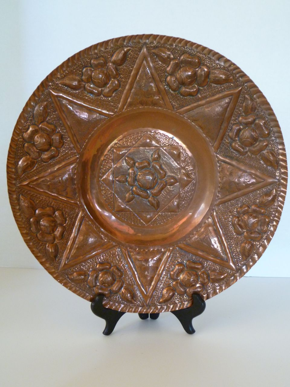 Antique Hand Forged Copper Plate From Historique On Ruby Lane