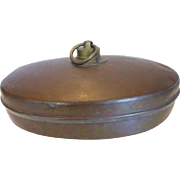Antique Copper Foot Bed Warmer