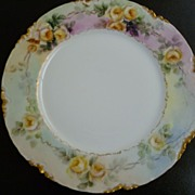 Antique Haviland Limoges H & CO  L France Cabinet Plate Signed A. Brown