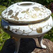 Vintage Porcelain Gold Moriage Hair Receiver